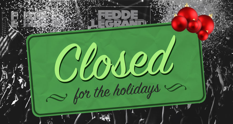 Las Vegas Nightclubs Closed for the Holidays