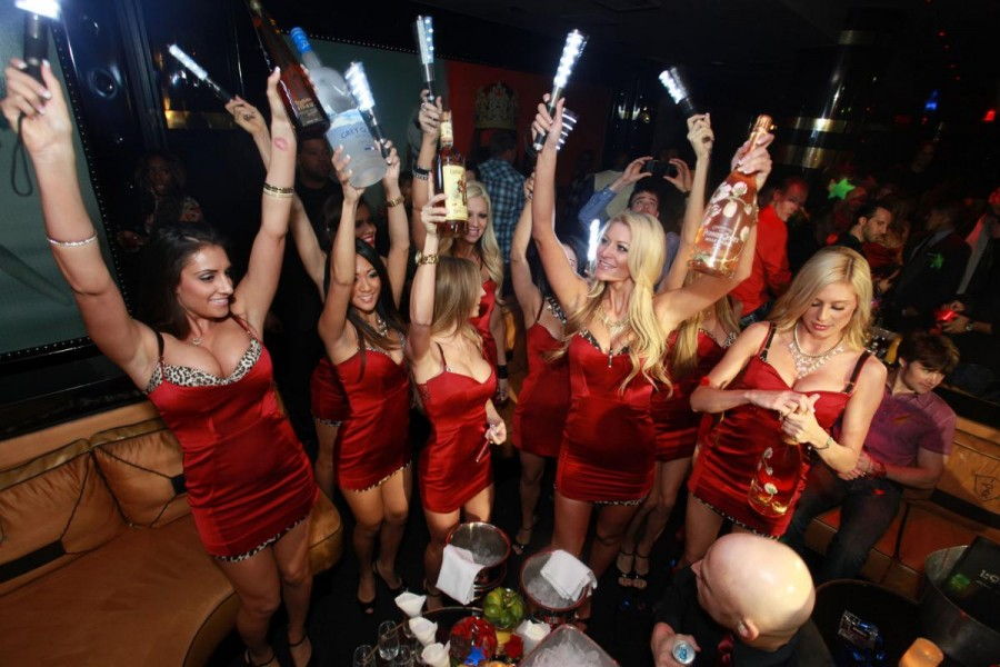 what vegas craziest bottle service deliveries look like