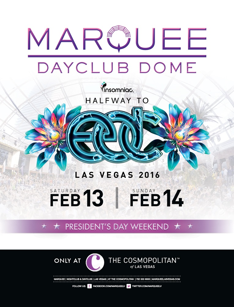 Halway to EDC - Presidents Day Weekend at Marquee Dayclub  on Sun 2/14