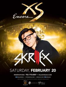 Skrillex at XS Nightclub on Sat 2/20