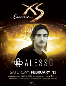 Alesso at XS Nightclub on Sat 2/13