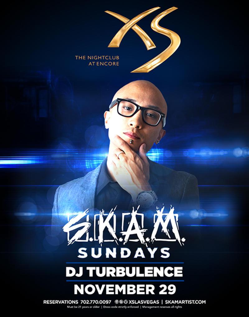 DJ Turbulence at XS Nightclub on Sun 11/29