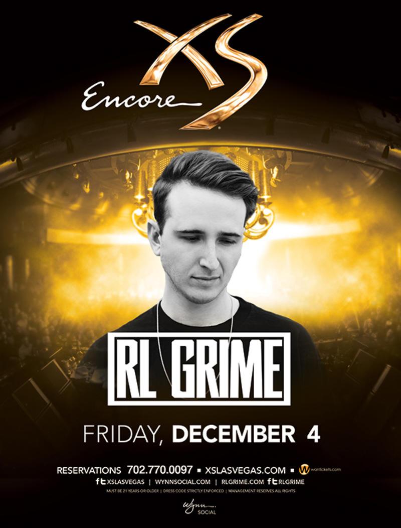 RL Grime at XS Nightclub on Fri 12/4