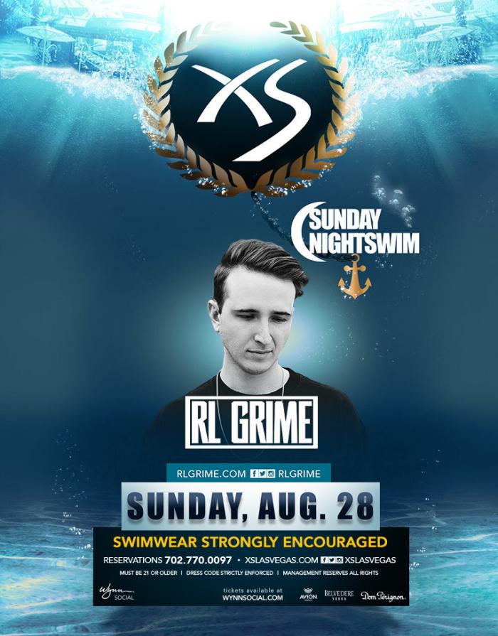 RL Grime - Nightswim at XS Nightclub on Sunday, August 28 ...
