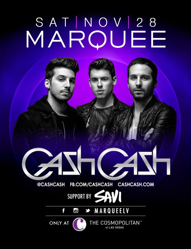 Cash Cash at Marquee Nightclub on Sat 11/28