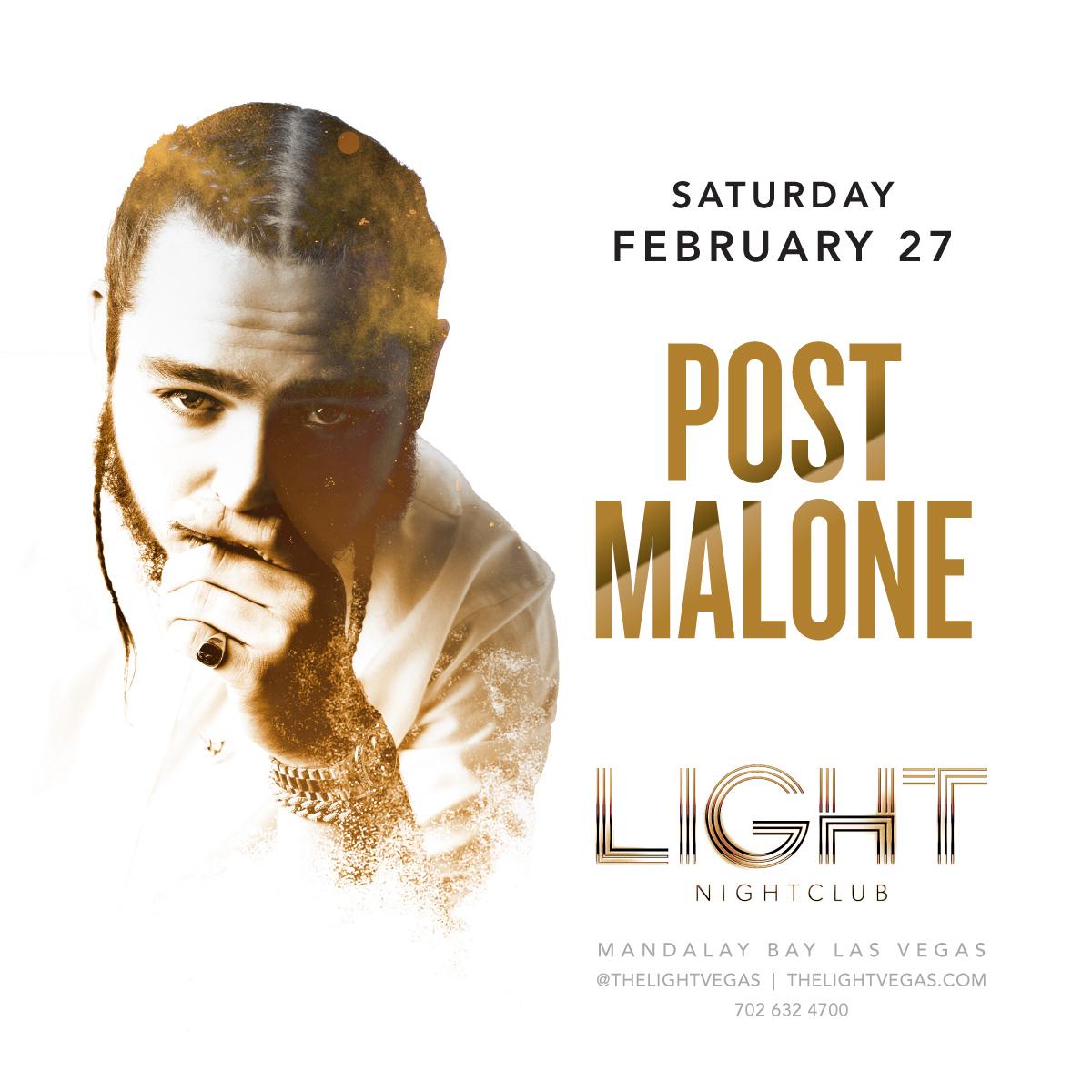 Post Malone At Light Nightclub On Saturday, February 27