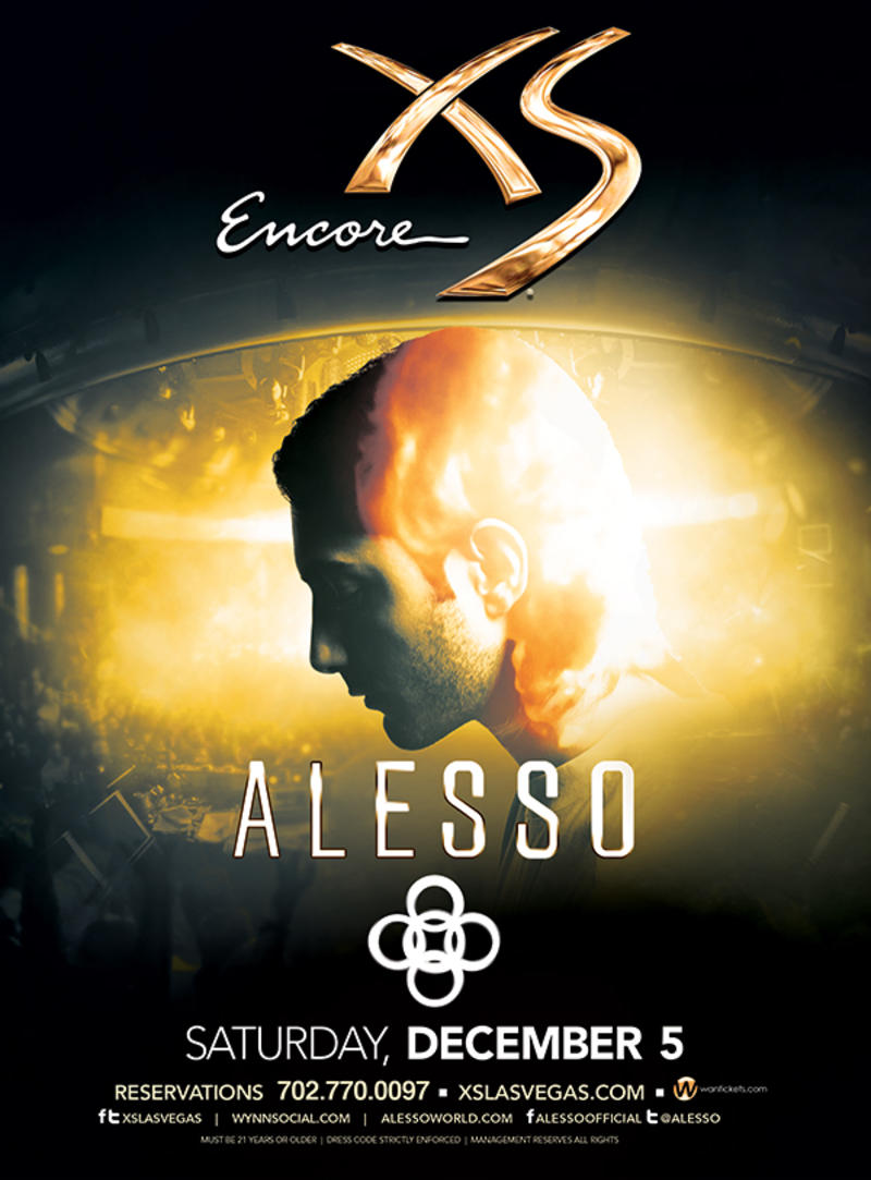 Alesso at XS Nightclub on Sat 12/5
