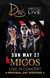 MIGOS W DJ FRANZEN at Drai's Nightclub on Sun 5/27