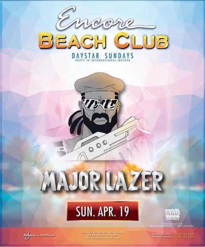 Major Lazer At Encore Beach Club On Sunday April 19 Galavantier