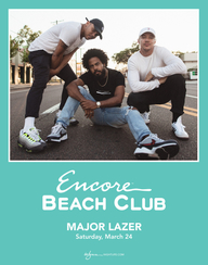 MAJOR LAZER at Encore Beach Club  on Sat 3/24