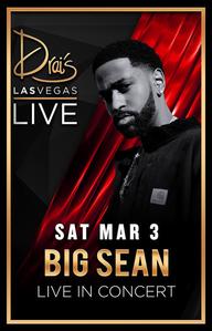 BIG SEAN at Drai's Nightclub on Sat 3/3