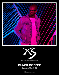 BLACK COFFEE W SUPPORT BY BEDOUIN at XS Nightclub on Sun 3/25