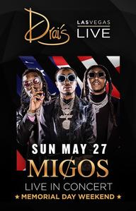 MIGOS W DJ FRANZEN at Drai's Nightclub on Sun 5/27