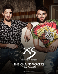 THE CHAINSMOKERS at XS Nightclub on Fri 8/17