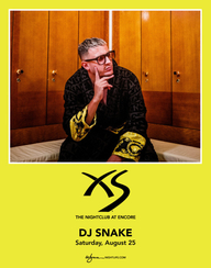 DJ SNAKE at XS Nightclub on Sat 8/25