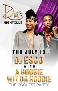 DJ ESCO W A BOOGIE WIT DA HOODIE at Drai's Nightclub on Thu 7/19