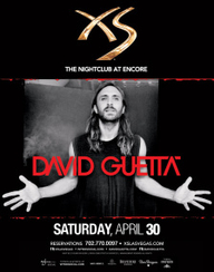 David Guetta at XS Nightclub on Sat 4/30
