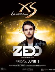 Zedd at XS Nightclub on Fri 6/3