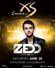 Zedd at XS Nightclub on Sat 6/25