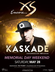 Kaskade - Memorial Day Weekend at XS Nightclub on Sat 5/28