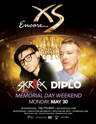 Skrillex  Diplo - Memorial Day Weekend at XS Nightclub on Mon 5/30