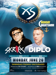 Skrillex  Diplo at XS Nightclub on Mon 6/20