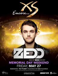 Zedd - Memorial Day Weekend at XS Nightclub on Fri 5/27