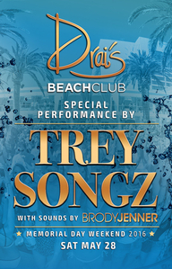 Trey Songz at Drai's Beach Club on Sat 5/28