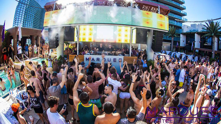 VIP bottle service Marquee Dayclub pool party