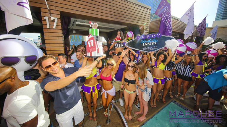 Cosmopolitan Marquee pool party Vegas