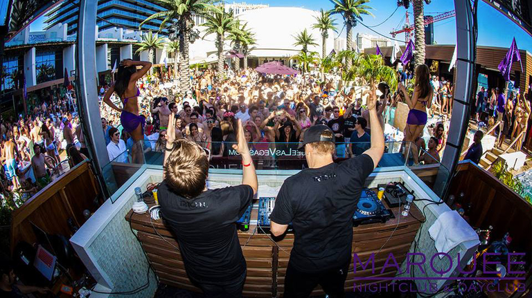 pool party DJ's Marquee Dayclub