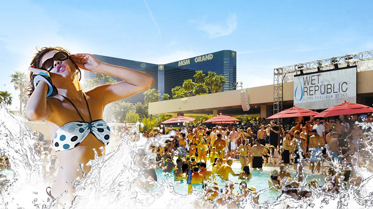 EDM party MGM Wet Republic